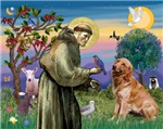 SAINT FRANCIS<br> & Golden Retriever #1
