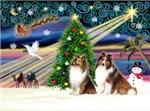CHRISTMAS MAGIC<br>& 2 Shetland Sheepdogs (S&W)