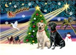 CHRISTMAS MAGIC<br>& 2 Labradors (Y&B)