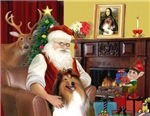 SANTA AT HOME<br>& Collie