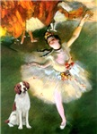 THE DANCER<BR>& Brittany Spaniel