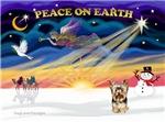 CHRISTMAS SUNRISE<br>& Yorkshire Terrier