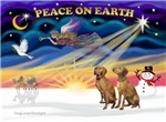 CHRISTMAS SUNRISE<br>& 2 Vizslas
