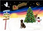 CHRISTMAS SIGNS<br>& Labrador Retriever (choc)