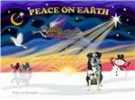 CHRISTMAS SUNRISE<br>& Catahoula Leopard Dog