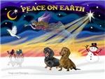 CHRISTMAS SUNRISE<br>& 2 Dachshunds