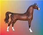 Brown Arabian Horse<br>Put into Famous Art