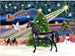"Black Arabian Horse in<br>""Christmas Magic"""