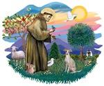 St. Francis #2 &<br> Italian Greyhound (fawn)
