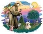 St. Francis #2 &<br> West Highland Terrier #1