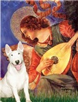 ANGEL WITH MANDOLIN &<br>White Bull Terrier