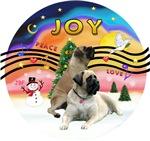 CHRISTMAS MUSIC #2<br>Two Bull Mastiffs