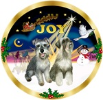 JOY WREATH (Gold)<br>WITH TWO SCHNAUZERS