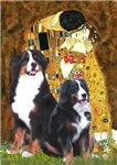 THE KISS<br>With Two Bernese Mountain Dogs