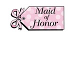 Pink Tag Maid of Honor Tshirt Gifts and Cards