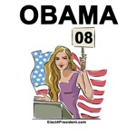 Womens Obama 08 T-shirts and Swag