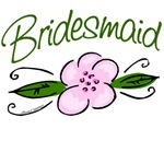 Bridesmaid Pink Flower T-shirts and Favors