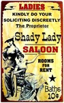 Shady Lady Vintage Saloon Advertising Sign Poster