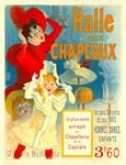 Halle Aux Chapeaux Rare Vintage Hat Advertising Pr