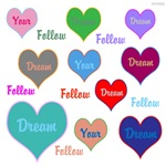 OYOOS Follow Your Dream Hearts design