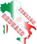 Italian Redhead Map of Italy