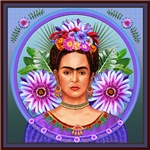 Frida with Passion Flowers