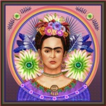 Frida with Green Flowers