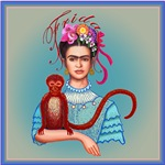 2.Frida with Red Monkey