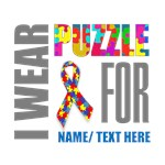 Autism Awareness Ribbon Customized