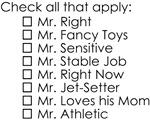 Dating Checklist