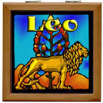 Astrology Tile Topped Wooden Boxes