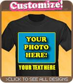 Custom Photo and Text T-Shirt