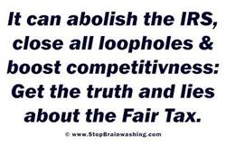 Abolish the IRS w Fair Tax
