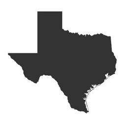 Charcoal Gray Texas Outline