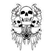 Over 40 Grimm Apparel Winged Skull T-Shirts