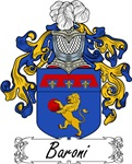 Baroni Family Crest, Coat of Arms