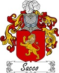 Sacco Family Crest, Coat of Arms