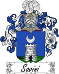 Savini Family Crest, Coat of Arms