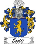 Scotti Family Crest, Coat of Arms