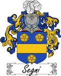 Segni Family Crest, Coat of Arms