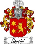 Soncini Family Crest, Coat of Arms
