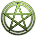 Green Metal Pagan Pentacle