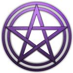 Purple Metal Pagan Pentacle