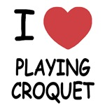 I heart playing croquet