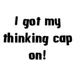 thinking cap on