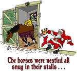 Santa in the Stable