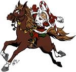 Santa Claus Riding Horse