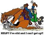 Reining Horse Slide