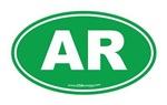 Arkansas AR Euro Oval GREEN
