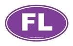 Florida FL Euro Oval PURPLE